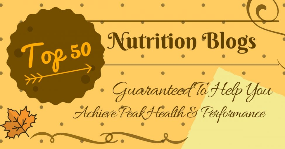 top 50 nutrition blogs