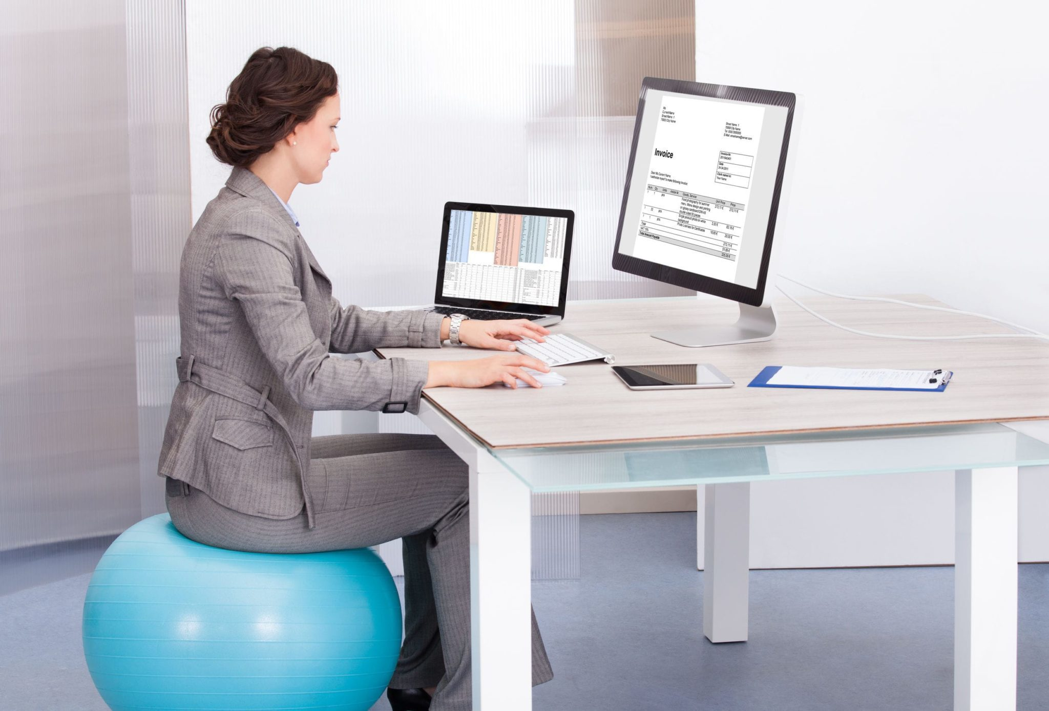 Exercise Ball Office ChairExercise Ball For Desk Chair Two New